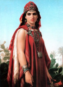 Charles-Émile-Hippolyte Lecomte-Vernet (French, 1821-1900), Berber Woman (1870). Courtesy WikiMedia Commons.