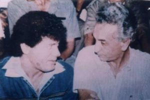 Hocine Ait Ahmed with Matoub Lounes