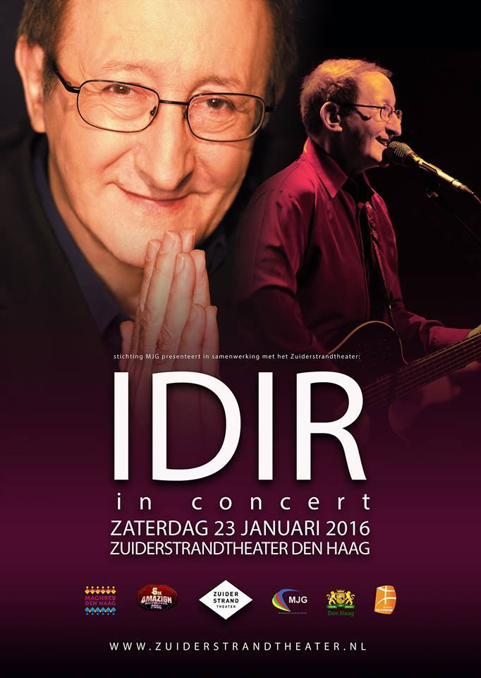Idir In concert at the hague