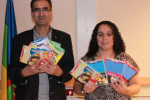 Amazigh Militants in Holland Showing Tamazight schoolbooks